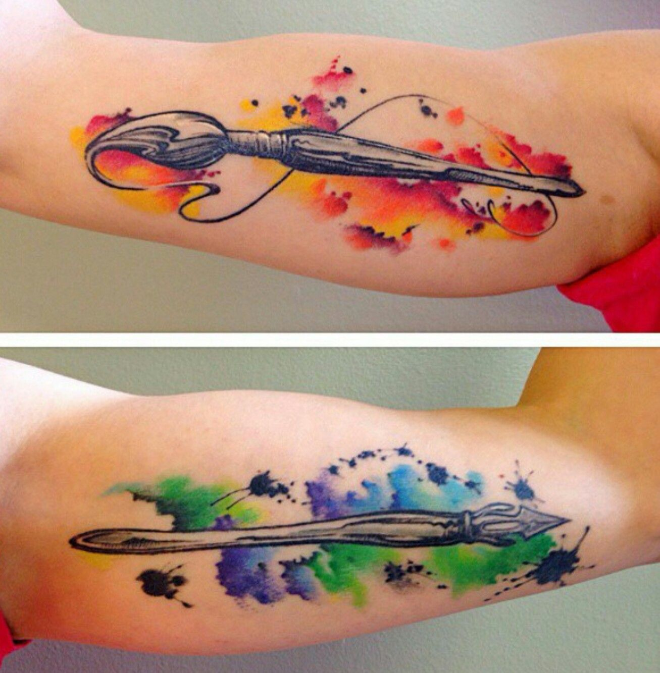 Paint Brush Tattoos By Shelby Daye Paintbrush Tattoo Floral