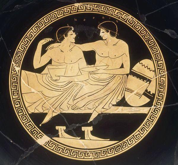 Scene De Banquet Ancient Greek Art Greek Art Greece Art
