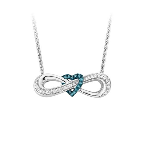 1  6 ct  tw  diamond infinity 17 necklace