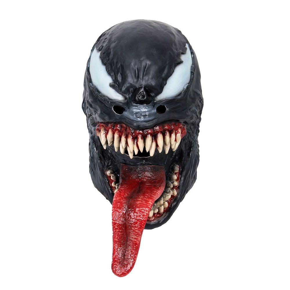 New The Venom Spiderman Mask Cosplay Edward Brock Venom Latex Masks Halloween