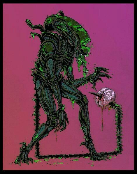 Zombie xenomorph | predators or yautjas and aliens or