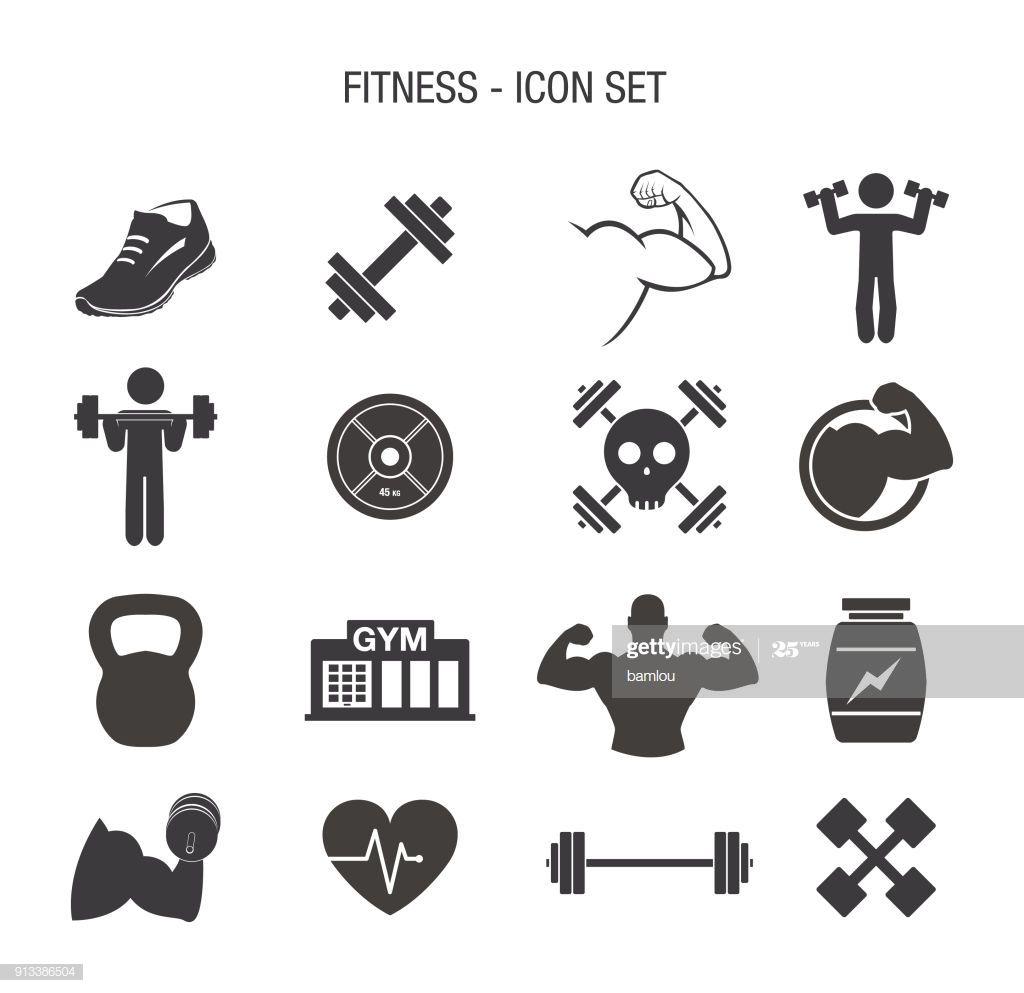 Fitness Icon Set Illustration #Ad, , #sponsored, #Icon, #Fitness, #Illustration, #Set