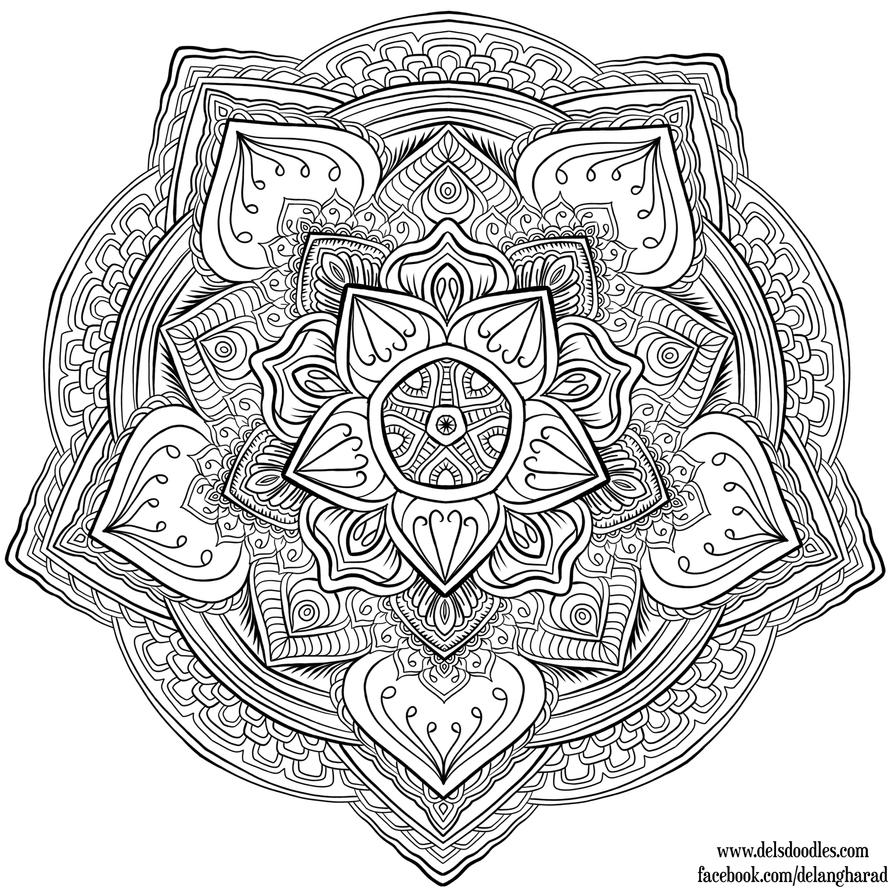 Krita Mandala 31 By Welshpixie Mandala Coloring Pages Coloring Pages Mandala Coloring