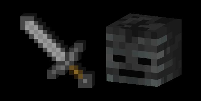 Minecraft Stone Sword And Wither Skeleton Sword Stone Skeleton