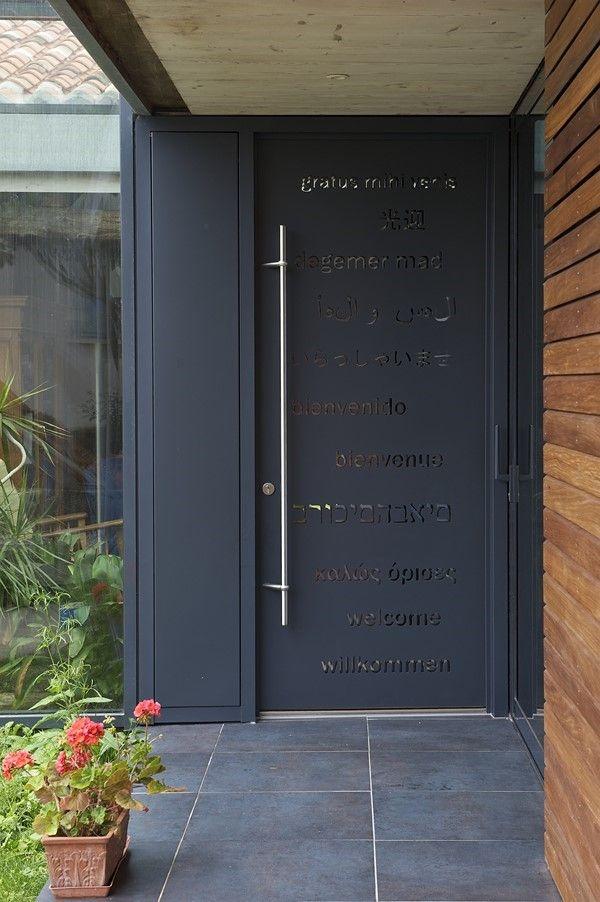 Bienvenue, cette porte d\u0027entrée designée par un architecte et