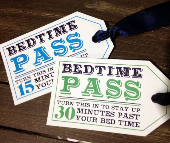 Items similar to Bedtime Pass - Digital Download on Etsy