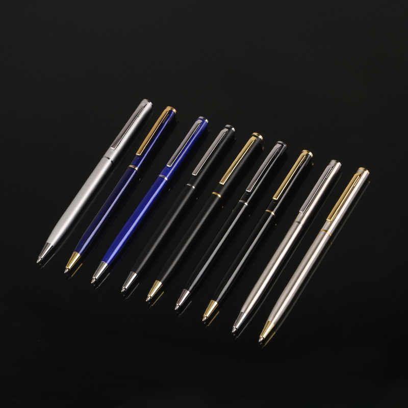 قلم حبر جاف معدني القلم بسيط الدورية تسجيل القلم الأعمال هدية إعلانية القلم مكتب مدرسة تسجيل القلم أقلام حبر جاف Aliexpress Pen Supplies