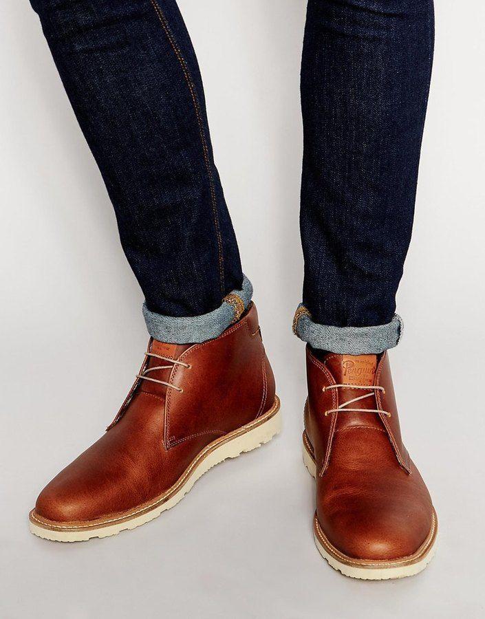 ecd86dd37effc Original Penguin Leather Desert Boots