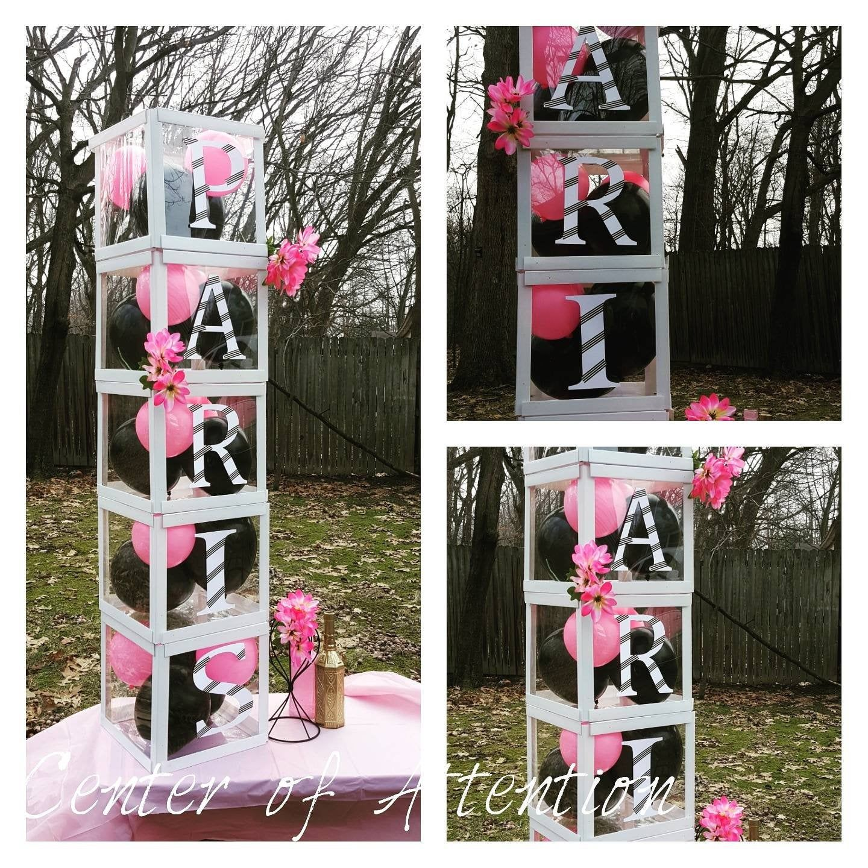 5 Large Clear Transparent Baby Blocks Decoration Custom Letter
