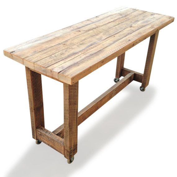 Recycled Extra Large Shabby Chic Timber Wood By Ghify Bar Tablesdining