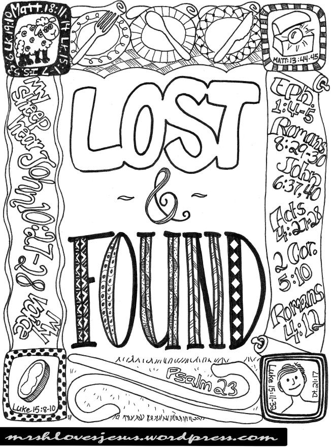 LOST FOUND The Parables Of Lost Things Bible ParablesMinistry IdeasFree Printable Coloring PagesAmazing