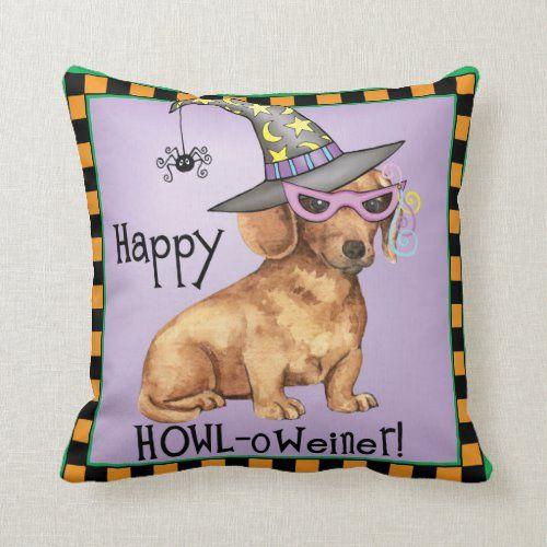 Halloween PillowsDachshund Halloween