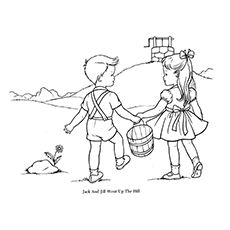 A Detailed Coloring Page Of Jack And Jill Coloring Page Nursery