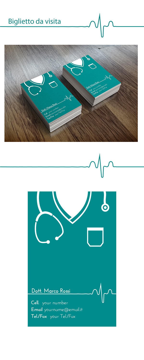 Biglietto Da Visita Per Un Dottore Medical Doctors Business Modern Card BusinessCards