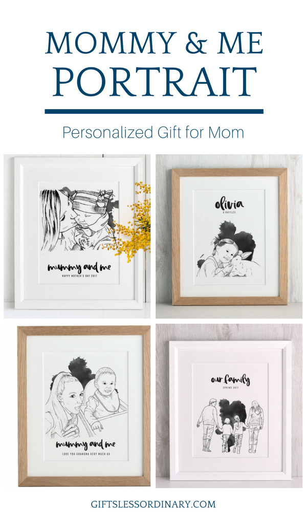 Personalized gift for mum. Gifts Less Ordinary. #PersonalizedGift #MothersDay #Portrait #GiftsForHer #FamilyGift #CreativeGift  sc 1 st  Pinterest & Personalised Mummy and Me Portrait in 2019 | Motheru0027s Day Gift Ideas ...