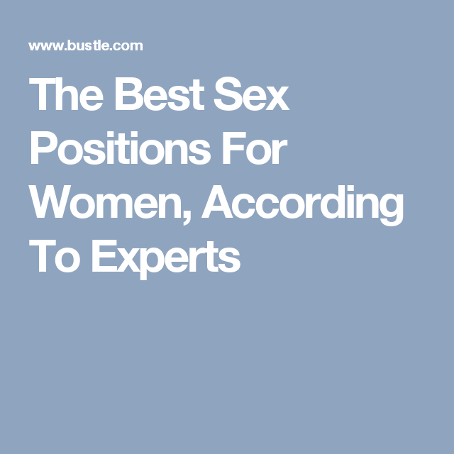 Best sex positions for larger women
