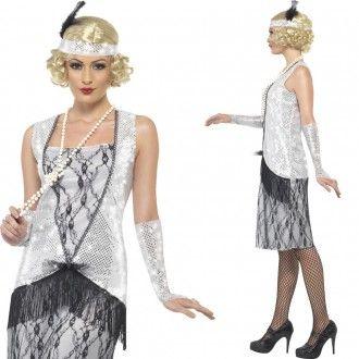 Charleston-Kleid silber