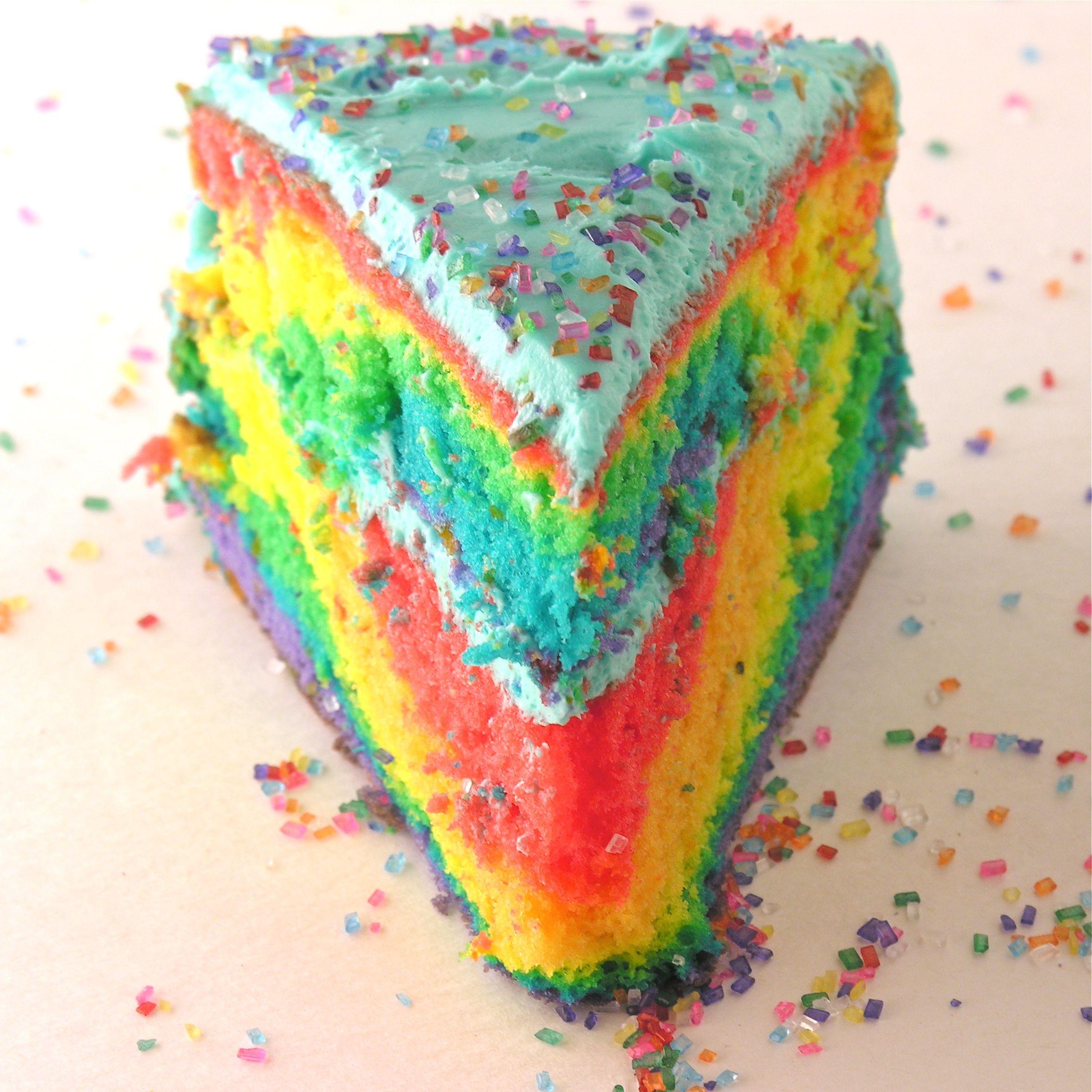 Fun Tie-dye rainbow cake!