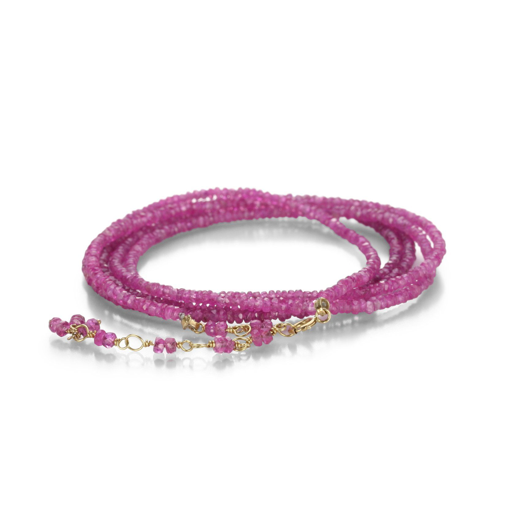 Pink sapphire wrap bracelet in products pinterest