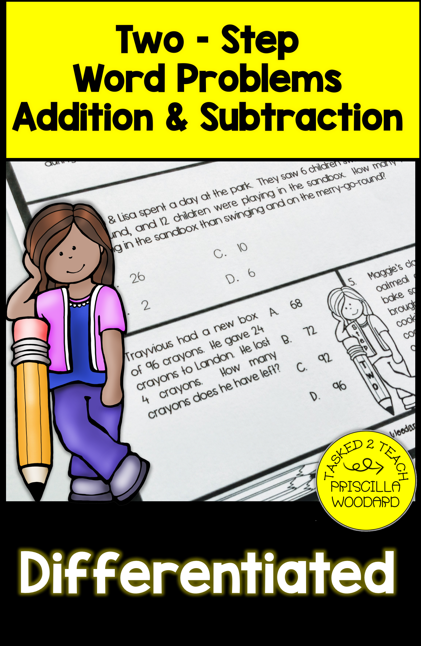 Two Step Word Problems Addition Amp Subtraction Worksheets