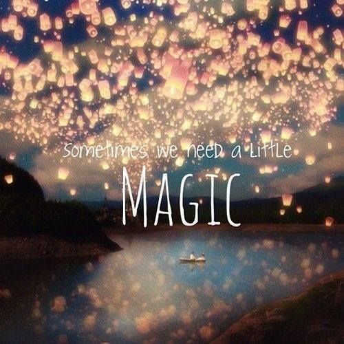 The magic of love, that's all we truly need in this lifetime :)