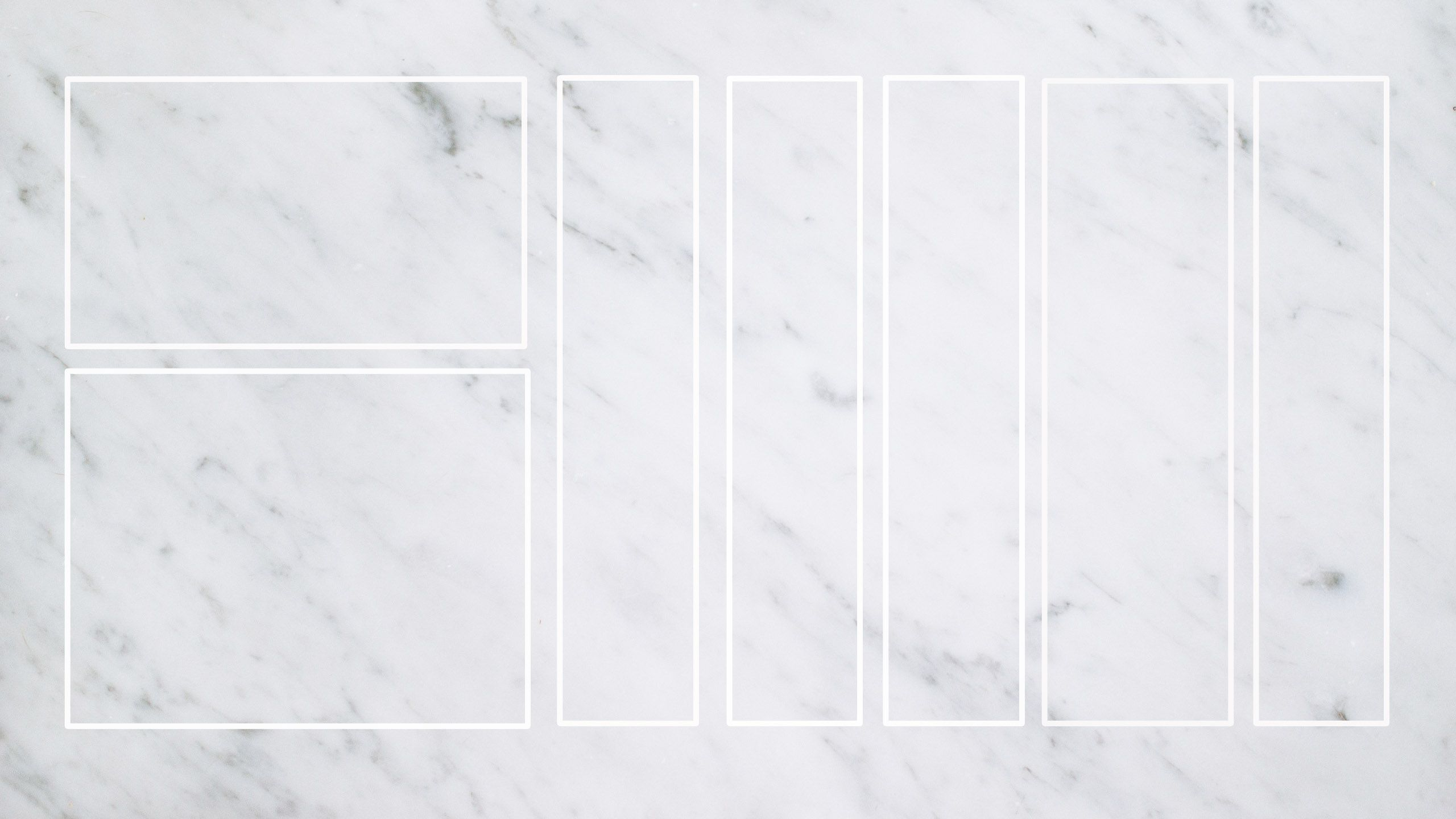 Grey White Blank Marble Desktop Organizer Wallpaper