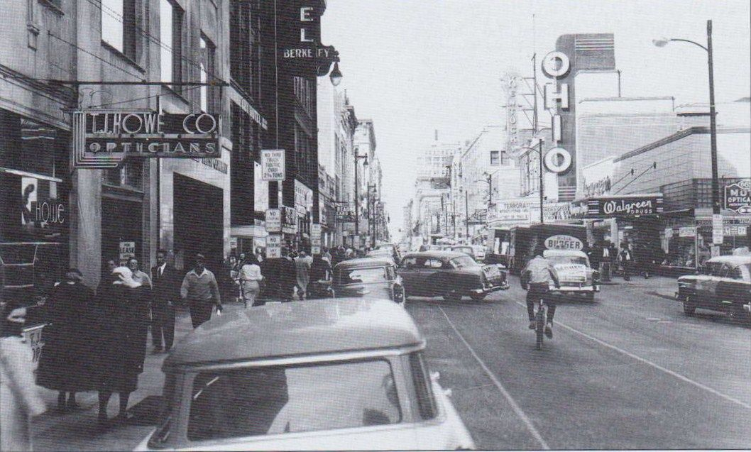 4th St Looking North From Near Broadway Louisville Ky 1957