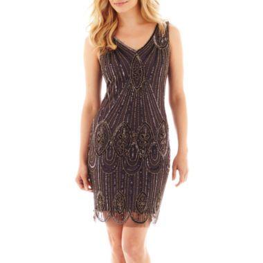 Prelude Sleeveless Beaded Dress found at @JCPenney | Wedding | Pinterest