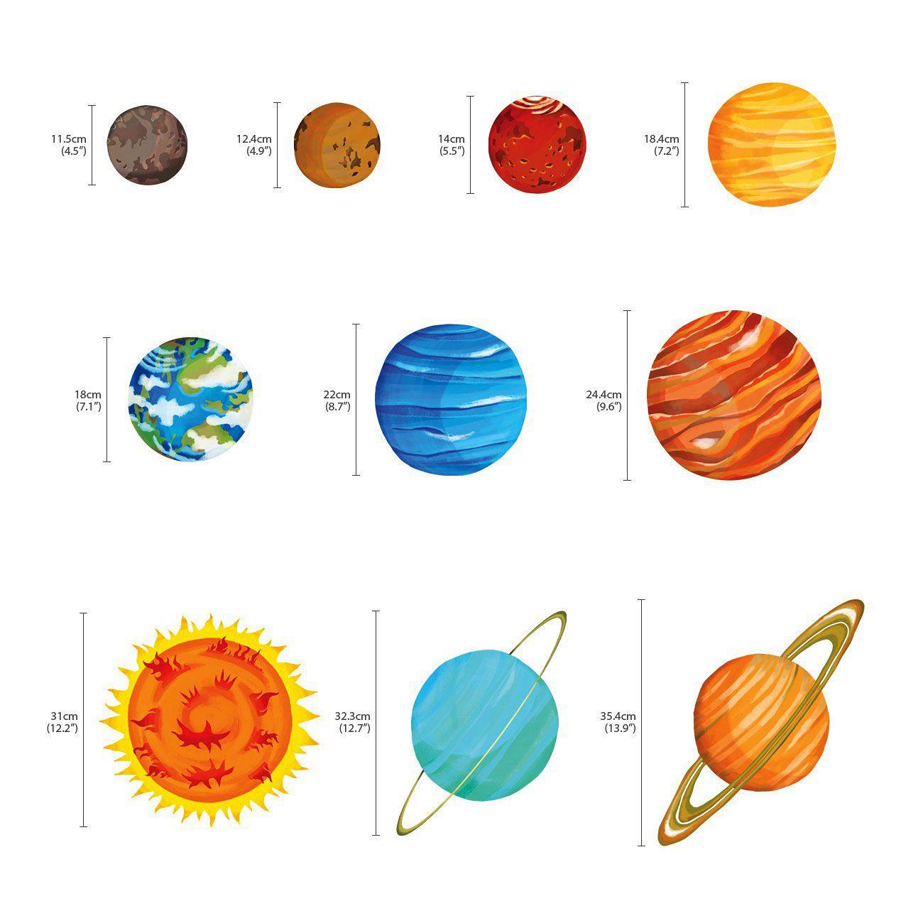 Wandsticker Planeten Sonnensystem Weltraum In 2020 Weltraum Sonnensystem Planeten