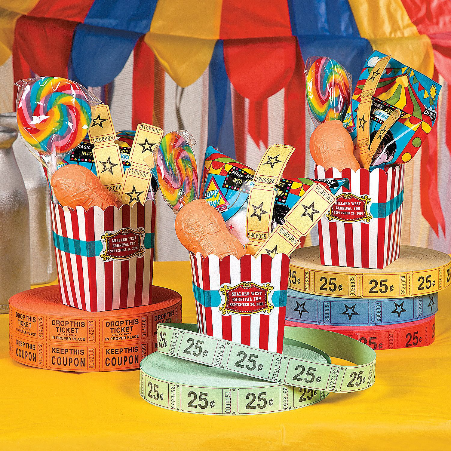 Click here to create these awesome carnival party favour ...