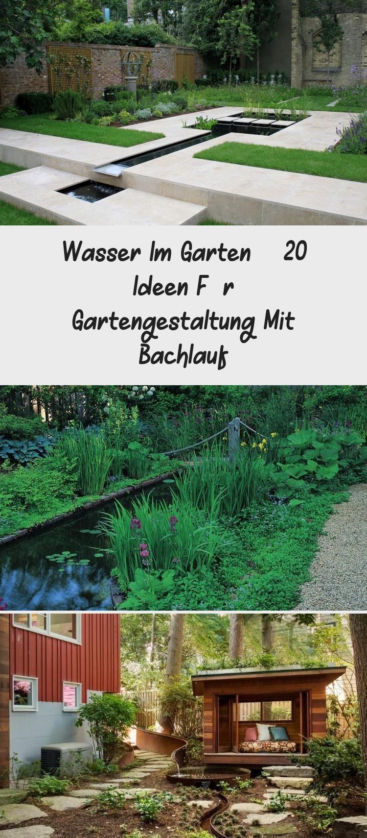 Wasser Im Garten 20 Ideen Fur Gartengestaltung Mit Bachlauf In 2020 Outdoor Structures Outdoor Pergola