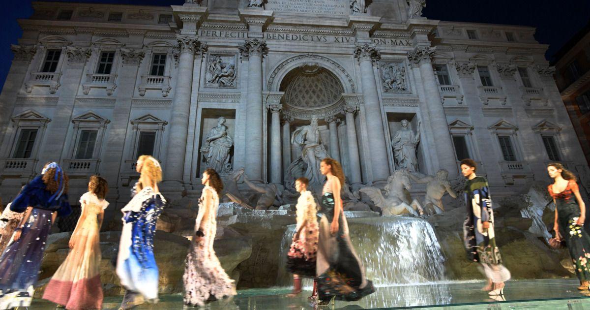 a38b2de17920 Inside Fendi s Takeover of the Trevi Fountain in Rome Today ...