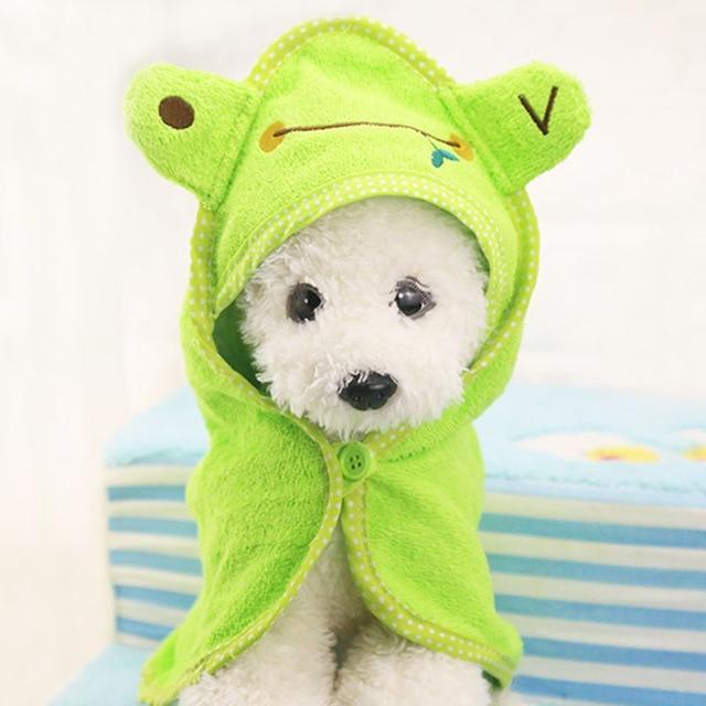 Cute Pet Dog Towel Soft Drying Bath Pet Towel For Dog Cat Hoodies