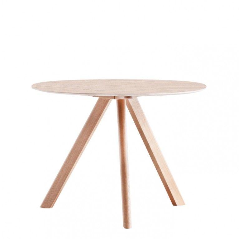 Eiche lackiert 90 cm   Runder tisch, Tisch, Runder esstisch