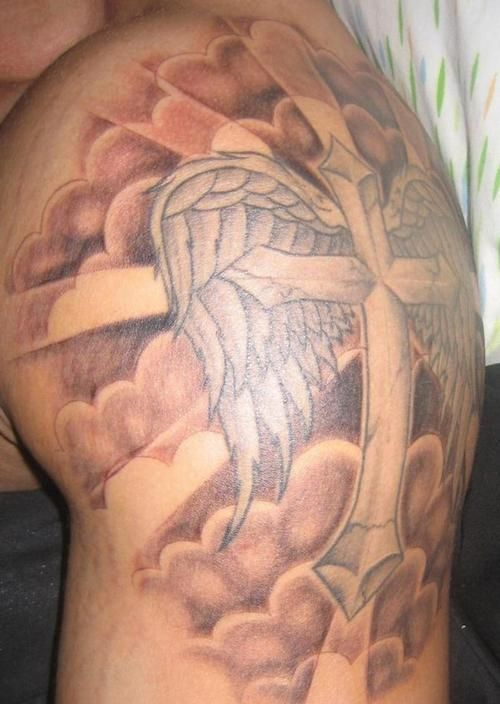 53e9eb35c4378 Religious Cloud Tattoos Cloud Tattoo Designs | Arts | Cloud tattoo ...
