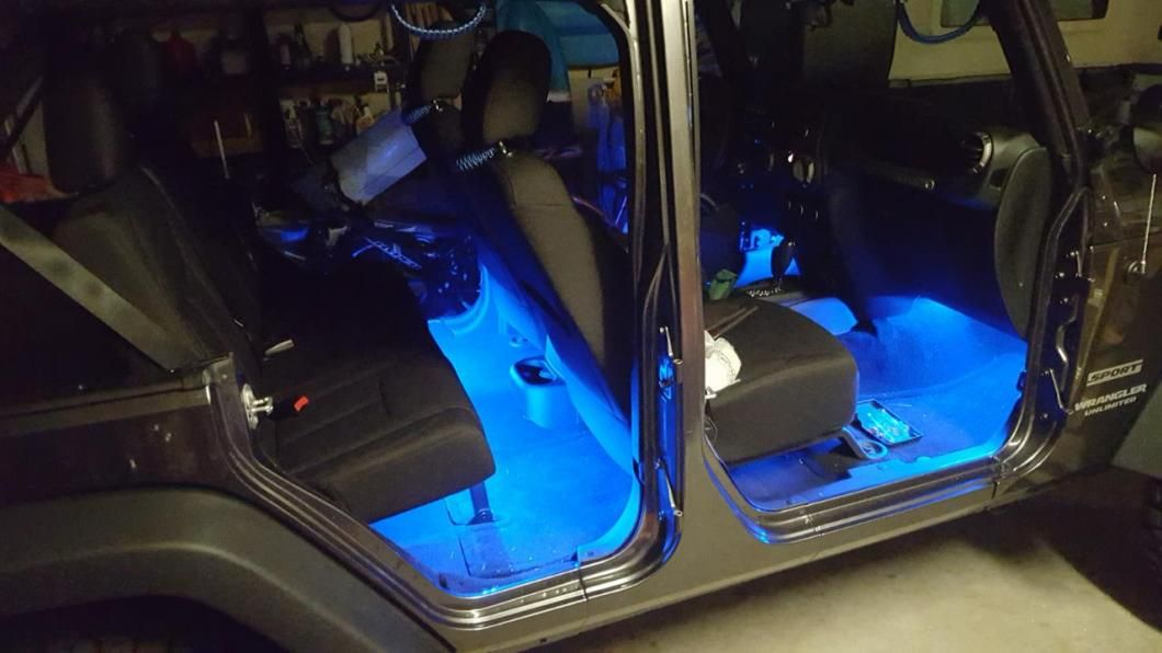 Axial 15 Inch Led Strips Blue Jeep Wrangler Jeep Wrangler