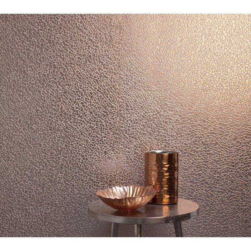Mercer41 Albina Mirror Texture 33 X 20 5 Wallpaper Roll In 2021 Mirror Texture Rose Gold Wallpaper Gold Wallpaper