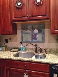 Image Result For Window Less Kitchen Sink With Faux Window Kitchen Sink Decor Kitchen Sink Remodel Kitchen Sink Window