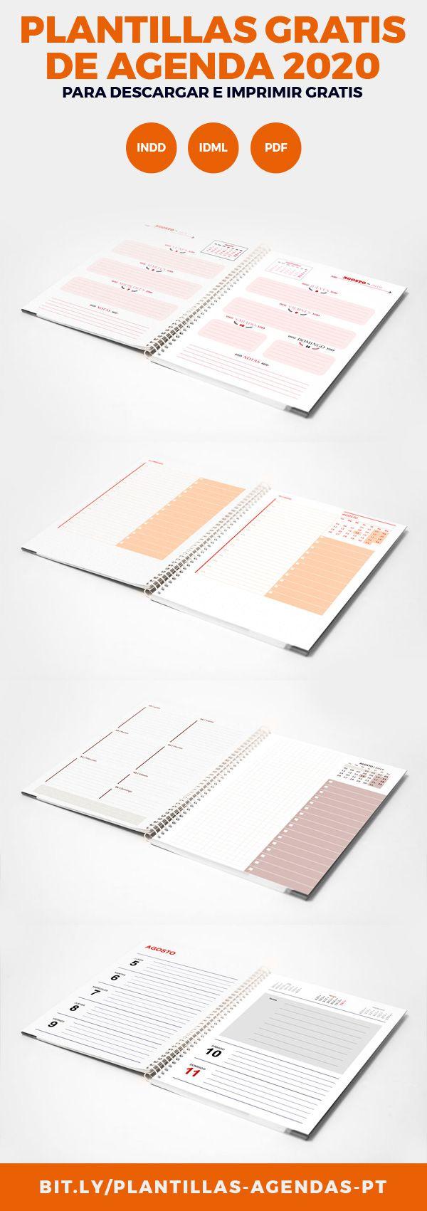 Agenda dietario 2020 lista para imprimir