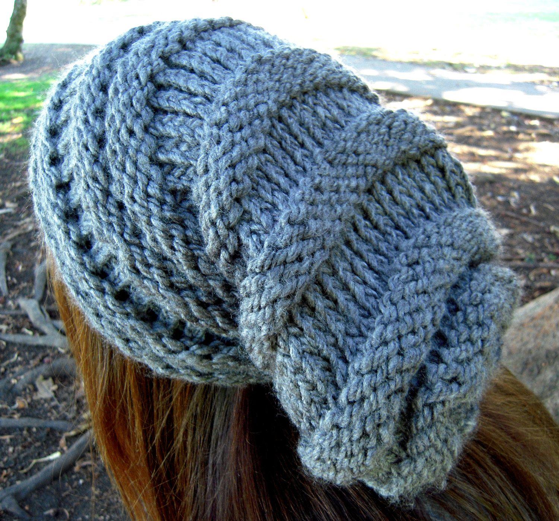 loom knitting patterns | Long slouchy hat loom pattern pdf Summary ...