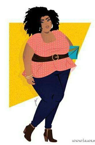 Artist Tawana Simone Curvy Art Comic Art Girls African American Art Women