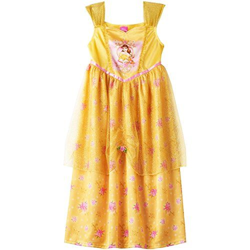 Disney Princess Belle Girls Fantasy Gown Nightgown Little Kid//Big Kid