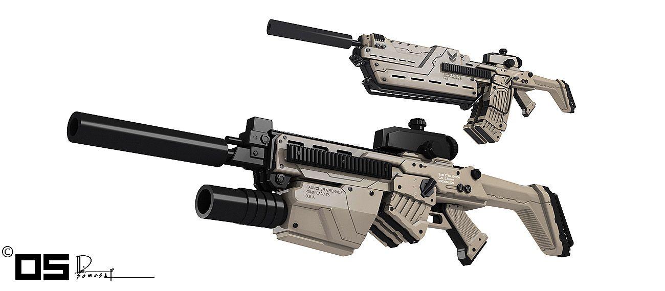 Resultado de imagem para futuristic rifle