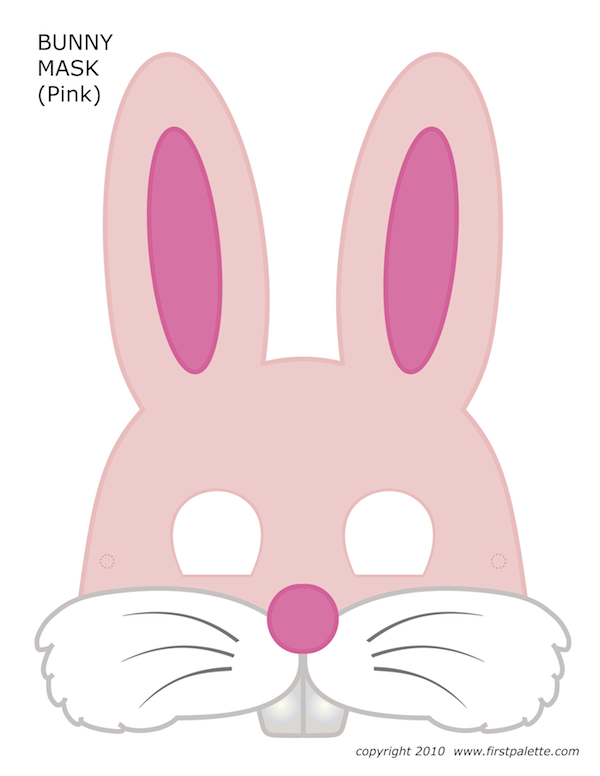 picture regarding Printable Bunny Mask called Printable Halloween Masks Silhouette stuffies Paskalya