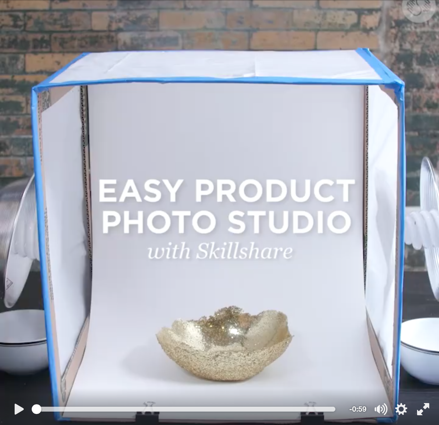 Easy Product photo Studio! Box, ruler, box cutter, tissue