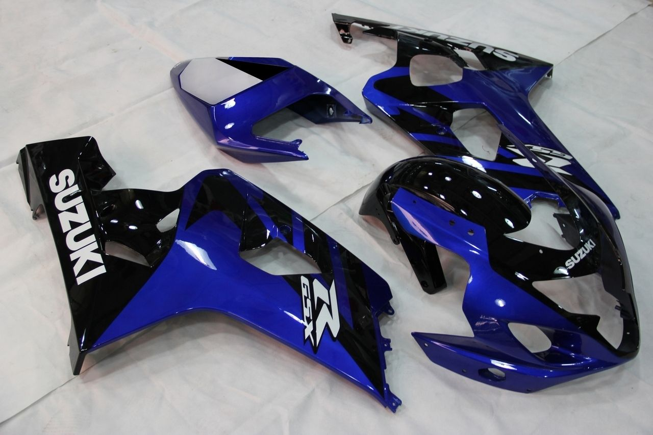 Fairings Suzuki GSXR 600 750 Blue Black GSXR Racing (2004
