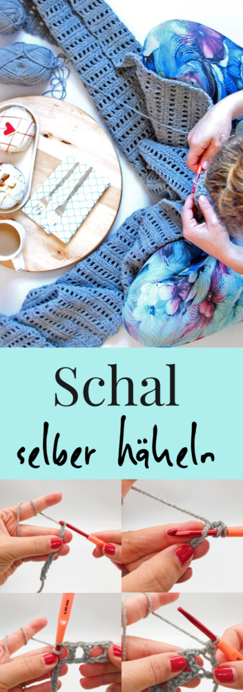 Photo of Schal häkeln – einfache Häkelanleitung für einen Schal mit Video