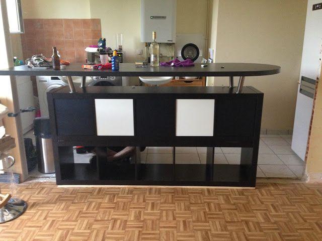 Table De Bar Avec Kallax Bidouilles Ikea Table Bar