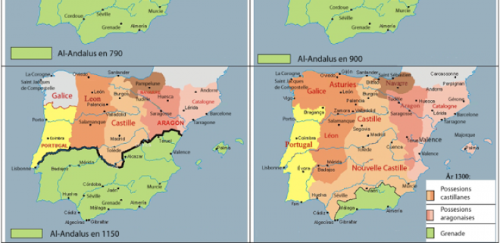 Map Of Spain 1492.Spain And The Reconquista 711 1492 Passports Educational Group