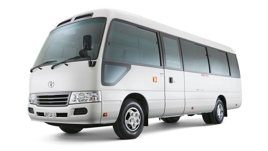 697711e126 Toyota Coaster can hold 22 people plus luggage